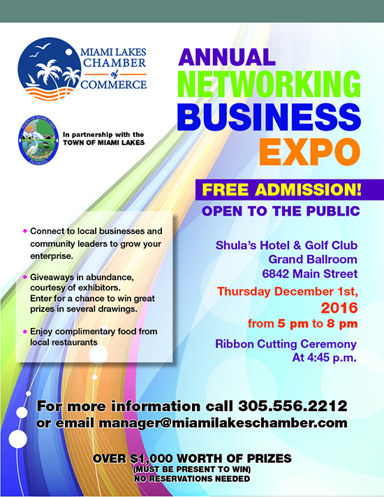 2016 Networking Business Expo Flyer