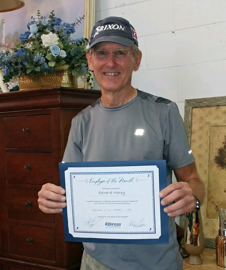 September 2018 Associate of the Month - Edward Maxey