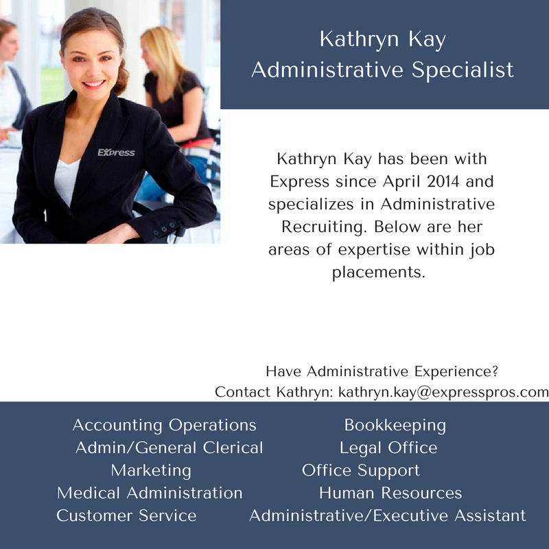 Administrative Specialist-Kathryn Kay