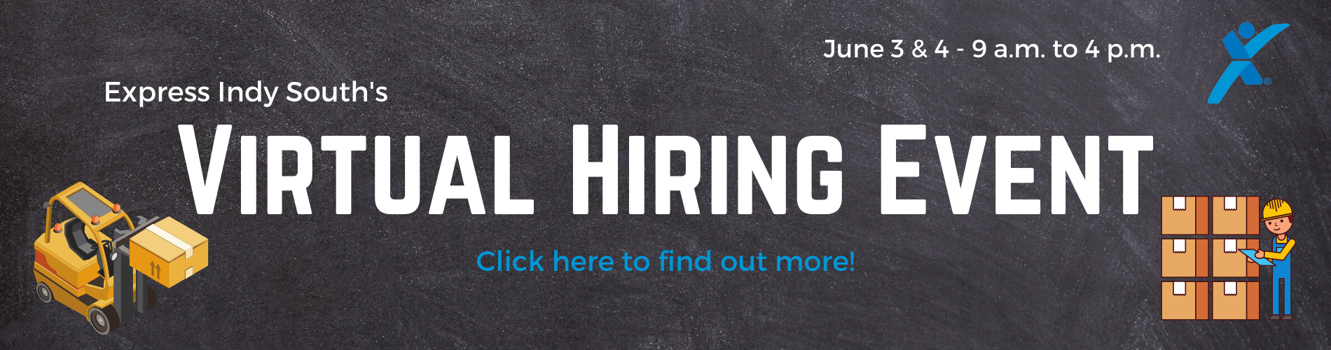 Virtual Hiring Event Website Banner