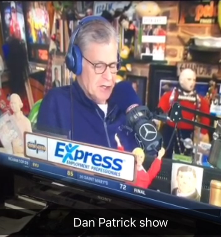 Express is live on the Dan Patrick Show