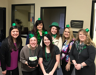 St Patrick's Day - Team Photo