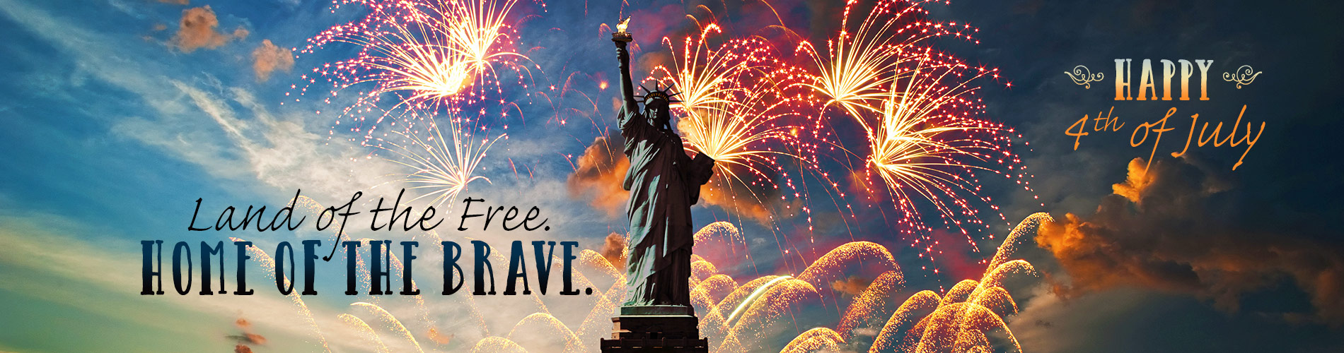 Fourth of July Front Page Banner