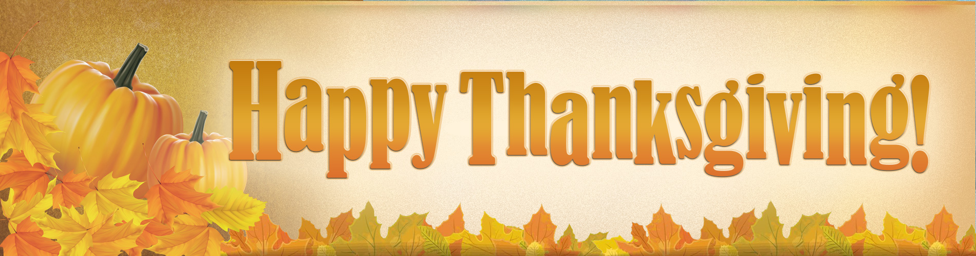 Happy Thanksgiving Home Page Banner