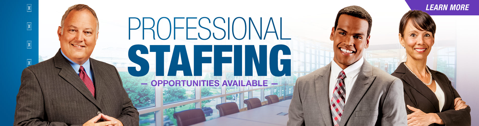 Temp Staffing Banners Purple Party Banners