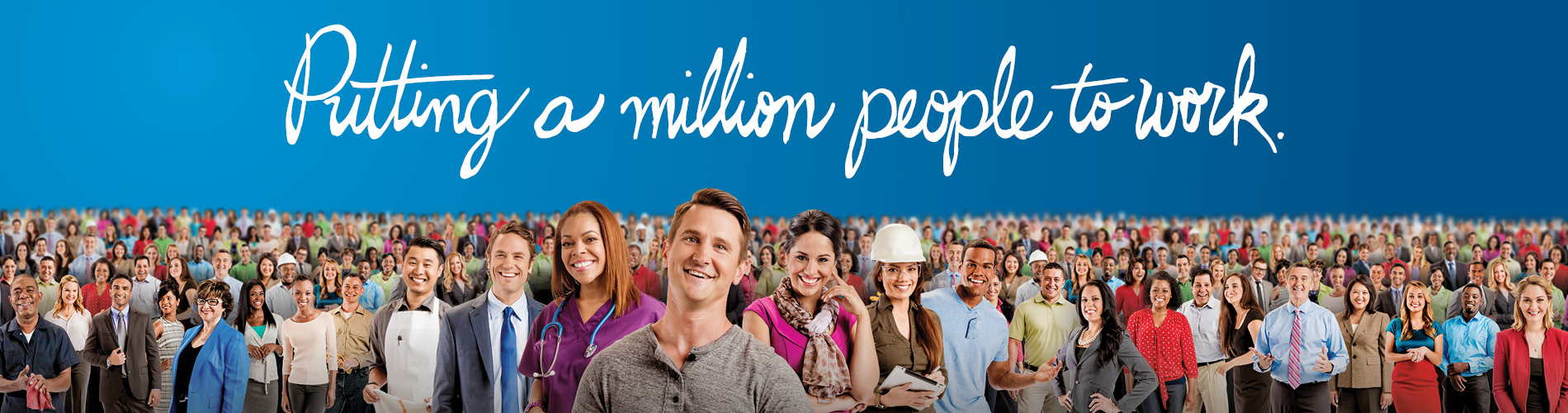 Putting A Million People To Work - 3 - Front Page Banner