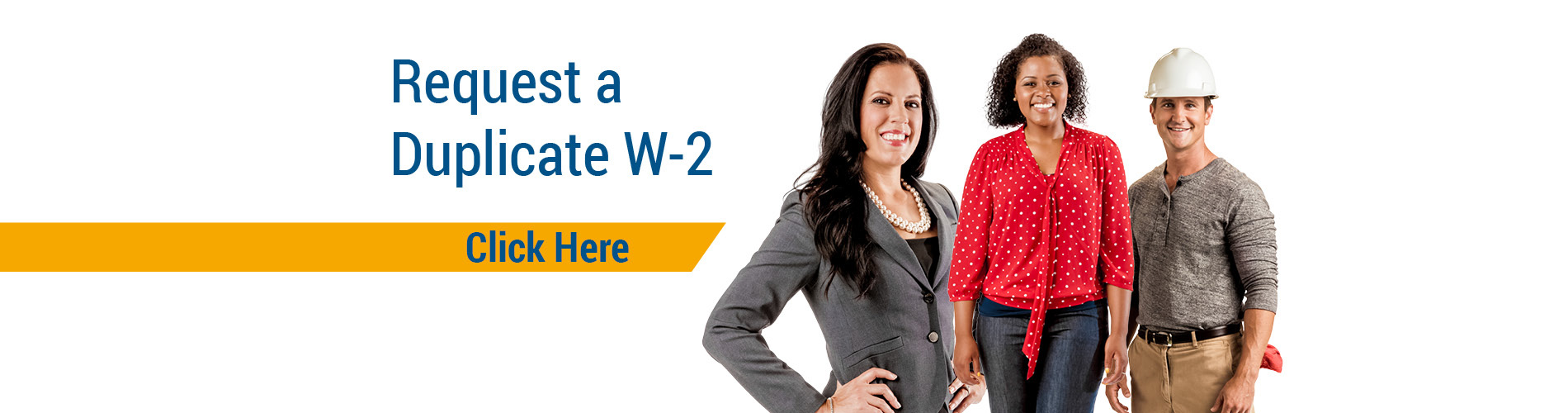 W-2 Duplicate Request Home Page Banner